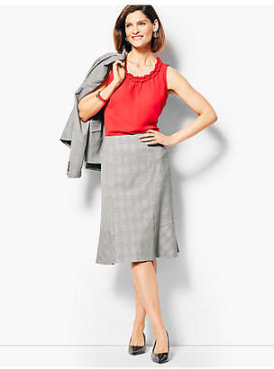 Talbots Glen Plaid Full Skirt