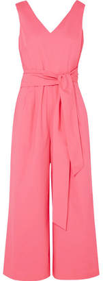 J.Crew Dark Matter Belted Cotton-blend Poplin Jumpsuit - Pink