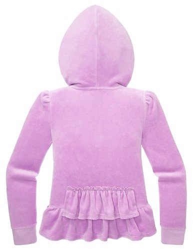 Juicy Couture Girls Original Jacket In Ruffle Velour