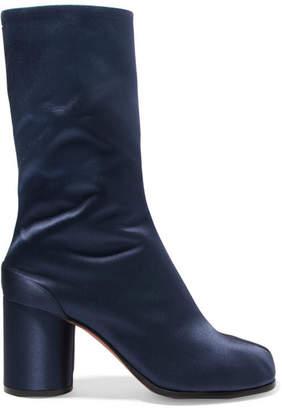 Maison Margiela - Satin Boots - Navy $1,050 thestylecure.com