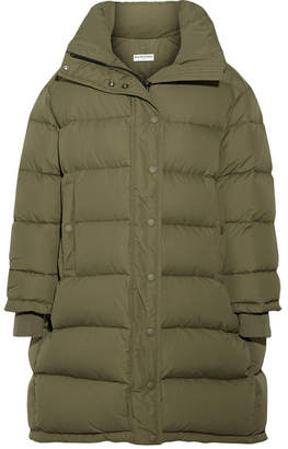Balenciaga - Oversized Quilted Shell Down Coat - Army green