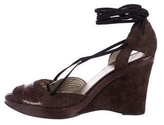CNC Costume National Suede d'Orsay Wedges