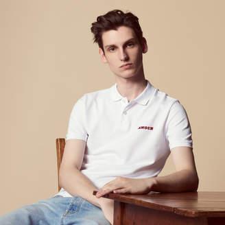 Sandro Amour flocked polo shirt