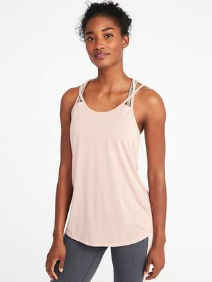 Old Navy Semi-Fitted Strappy Mesh-Back Performance Tank for Women