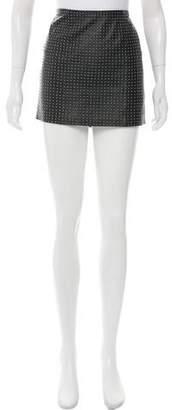 Haute Hippie Leather Stud Mini Skirt