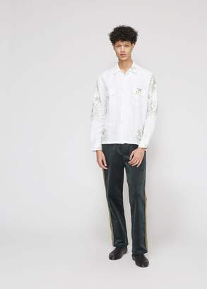 Bode Loose Cross-Stitch Havana Shirt
