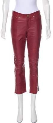 Derek Lam Leather Mid-Rise Jeans