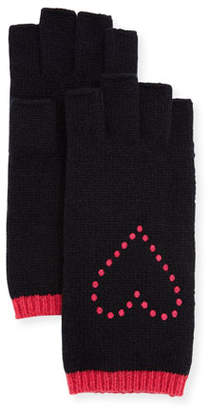 Portolano Fingerless Gloves w/ Heart Embroidery