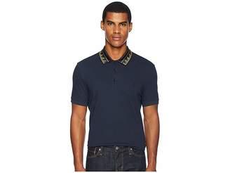 Versace Key Detail Collar Polo