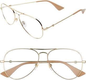 Gucci 58mm Pilot Optical Glasses