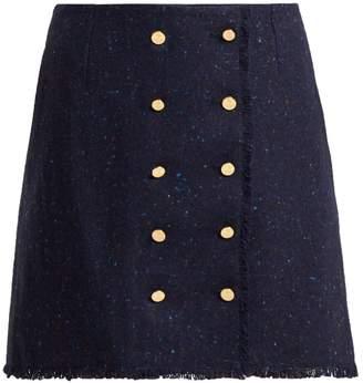 Thom Browne Tweed wool and mohair-blend skirt
