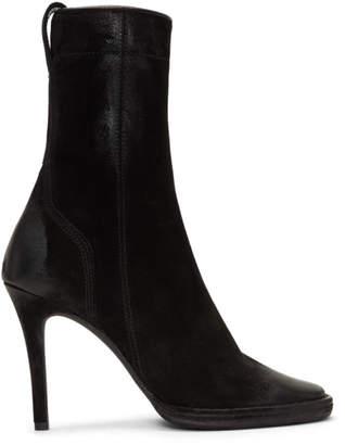 Haider Ackermann Black Suede Zarou Boots