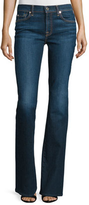 7 For All Mankind Low-Rise Boot-Cut Jeans, New York Dark $198 thestylecure.com