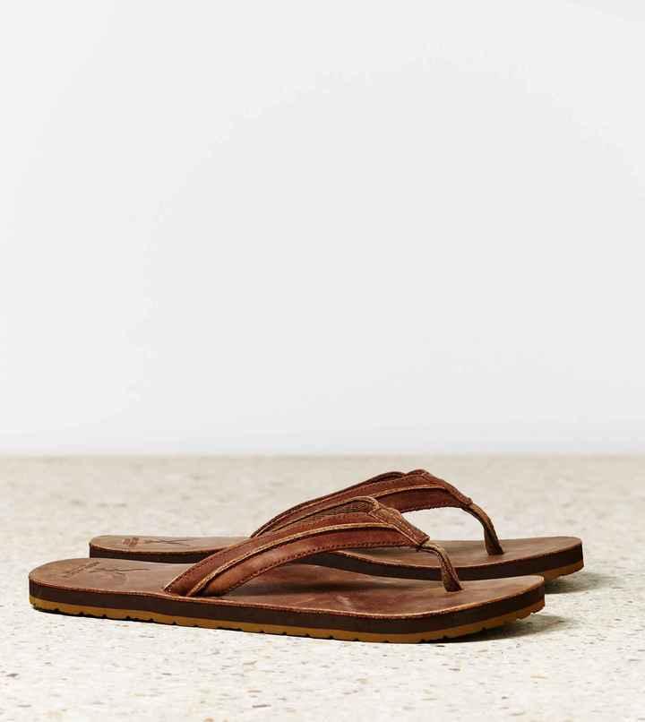 American Eagle AEO Leather Flip-Flop