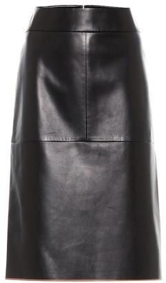 Tod's Leather midi skirt
