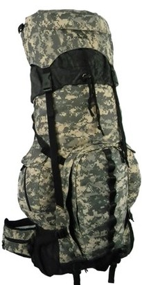 K-Cliffs Expandable Hiking Backpack Large 6000ci-8000ci Camping Backpack Scout Daypack Aluminum Frame Sport Pack Outdoor Big Travel Bag, ACU Camo