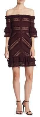 Naya Off-The-Shoulder Bell-Sleeve Mini Dress