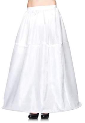 Leg Avenue Women's Long Hoop Skirt, White, One Size