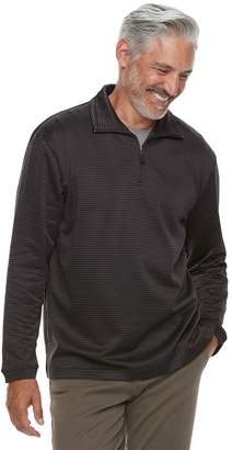 Haggar Men's In-Motion Stretch Quarter-Zip Pullover