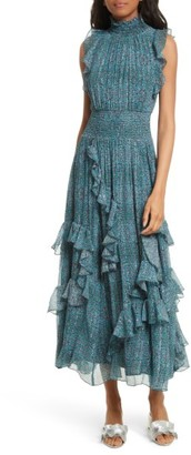 Women's Rebecca Taylor Minnie Floral Maxi Dress $595 thestylecure.com