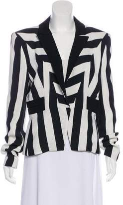 Thierry Mugler Striped Peak-Lapel Blazer