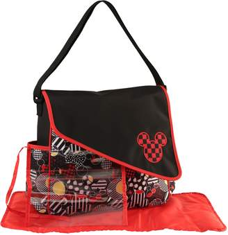 Disney Mickey Mouse Diaper Bag with Asymetrical Flap