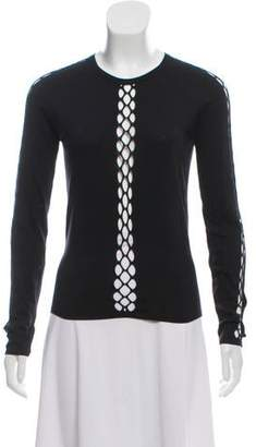 Celine Cut-Out Long Sleeve Top