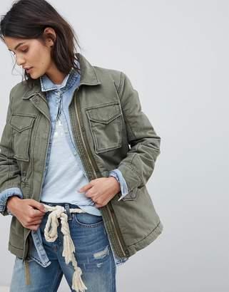 Abercrombie & Fitch Faux Fur Lined Field Jacket