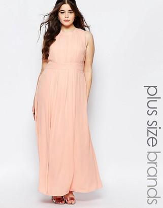 Lovedrobe Plus Maxi Dress With Tie Neck $73 thestylecure.com