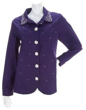 Factory Quacker Simulated Pearl and Stone Stretch Jacket