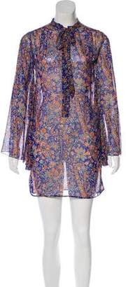 Marc Jacobs Floral Long Sleeve Tunic