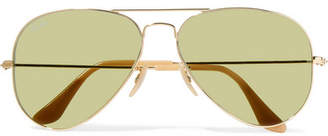 Ray-Ban Aviator Gold-tone Sunglasses - one size