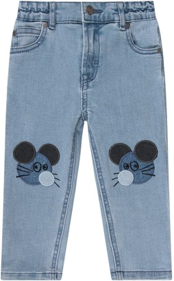 Stella McCartney Light Blue Babygirl Jeans With Mouses