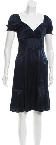 Miu Miu Miu Miu Satin A-Line Dress