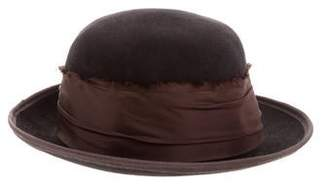 Albertus Swanepoel Satin-Trimmed Felt Hat