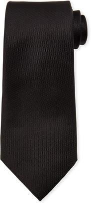 Ermenegildo Zegna Solid Silk Tie, Black