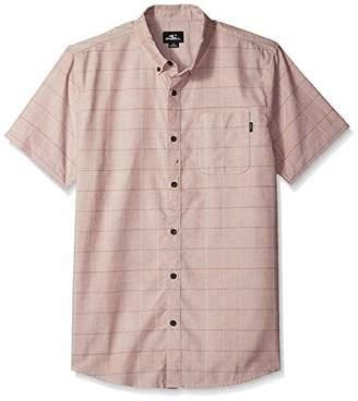 O'Neill Men's Gridlock Short Sleeve Woven Button Down Shirt