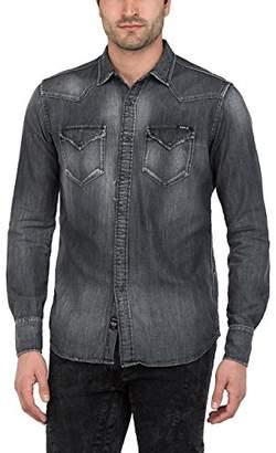 Replay Men's M4860z.000.106 288 Shirt, (Black Denim 10)