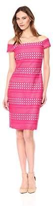 Eliza J Women's Laser Cut Off-The-Shoulder Dress