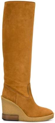 Tod's knee-length wedge boots