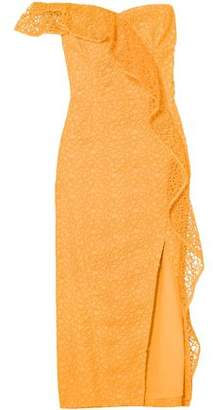 610d0f4d6548 Rebecca Vallance Baha One-shoulder Guipure Lace Midi Dress