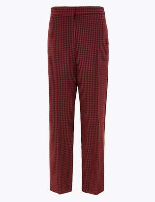 Marks and Spencer Dogtooth Straight Leg 7/8th Trousers