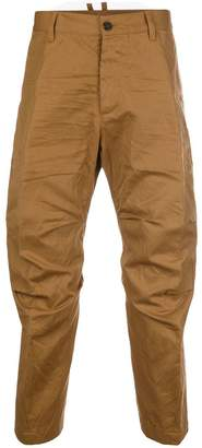 DSQUARED2 crumpled cropped trousers