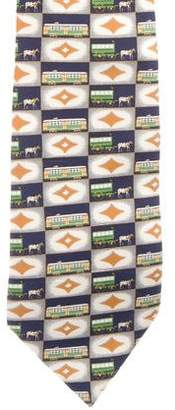 Givenchy Horse Carriage Silk Tie
