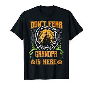 Mens Don't Fear GRANDPA Is Here Halloween Design T-shirt
