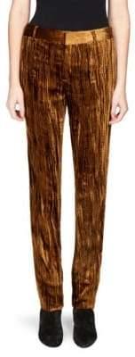 Saint Laurent Velvet Straight-Leg Pants