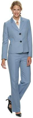 Le Suit Women's Herringbone Jacket & Pant Suit