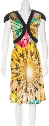 Jean Paul Gaultier Printed Silk Dress
