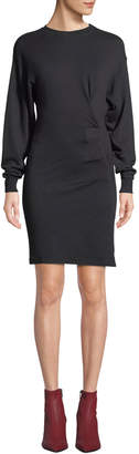 Fewlyn Gathered Long-Sleeve Short Dress