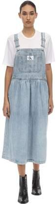 Calvin Klein Jeans COTTON DENIM DUNGAREE DRESS